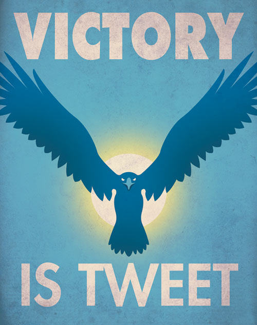 Social Media Propaganda by Aaron Wood , graphic poster design