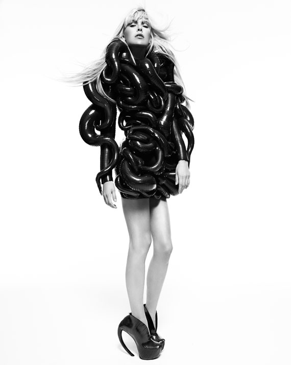 Dutch designer Iris van Herpen black and white