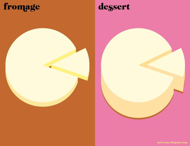 Paris vs New York graphic design posters desert