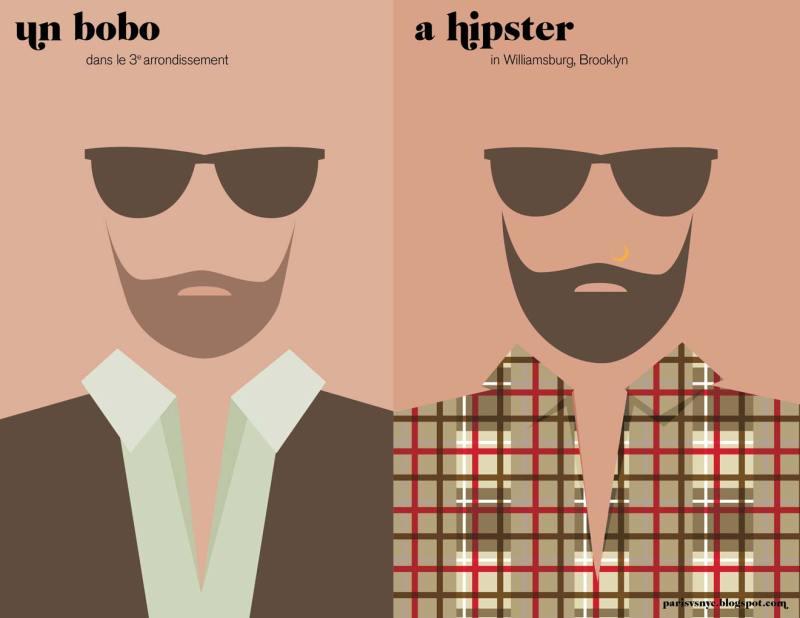 Paris vs New York graphic design posters