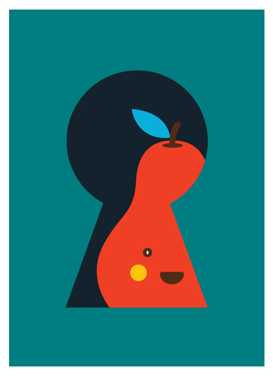 yeoh gh pear illustration graphic design poster