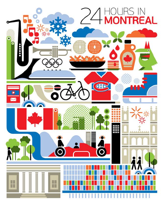 fernando volken togni  24 hours in montreal travel poster