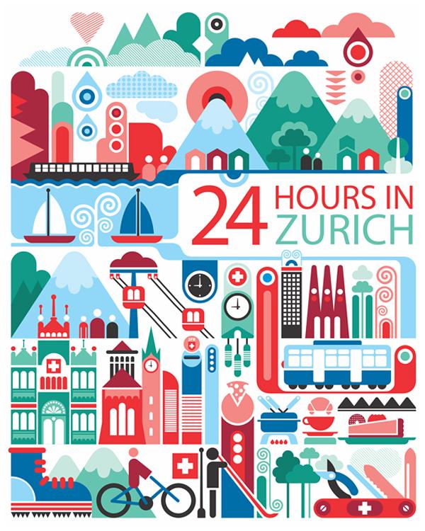 fernando volken togni  poster design 24 hours in zurich