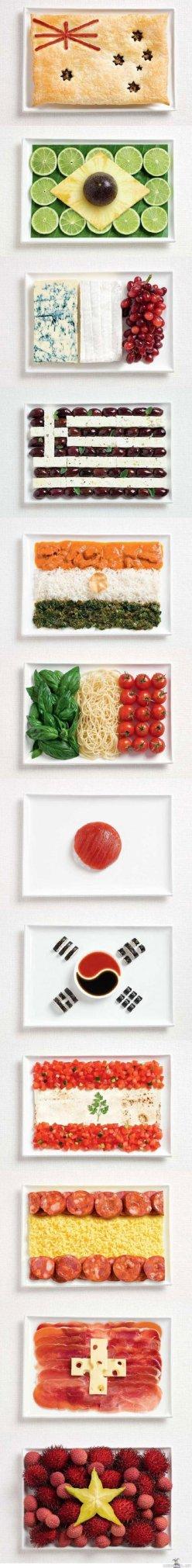 food flags plates chicquero