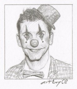 Denis Braguini Bevacqua clown portrait chicquero