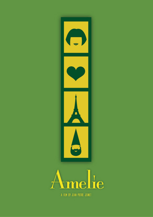 minimal movie poster  amelie poulain