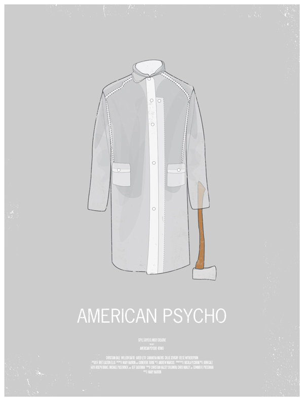 minimal movie poster  american psycho