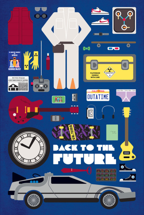 minimal movie poster back to the future