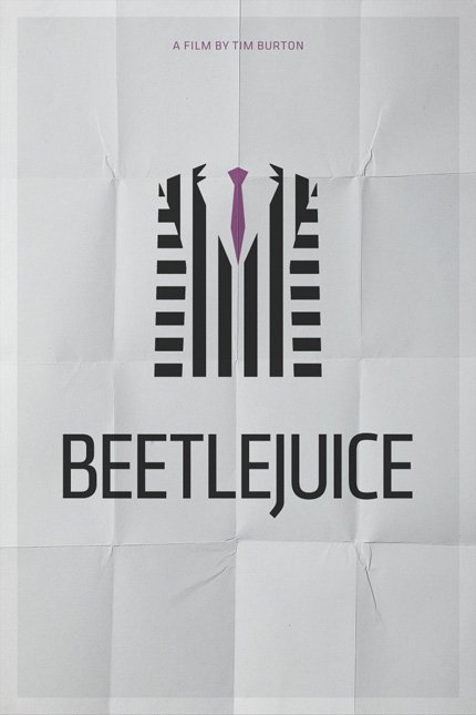 minimal movie poster  beetlejuice