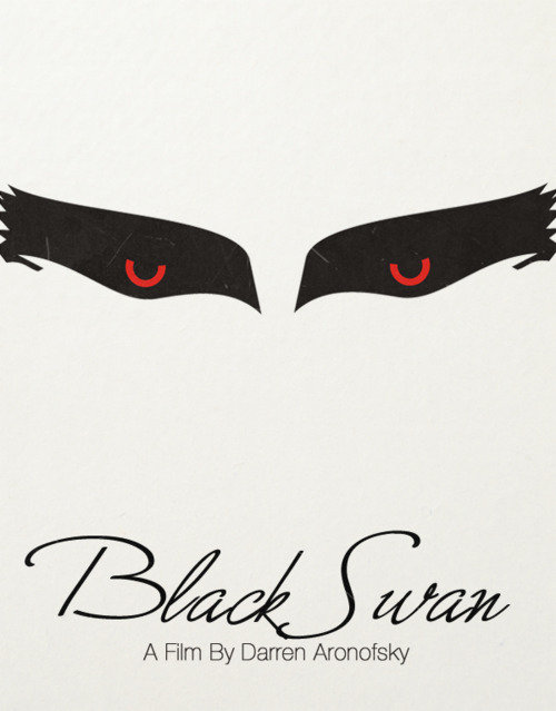 minimal movie poster black swan
