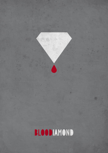 minimal movie poster  blood diamond