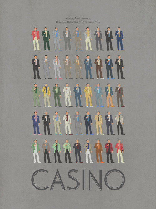 minimal movie poster casino