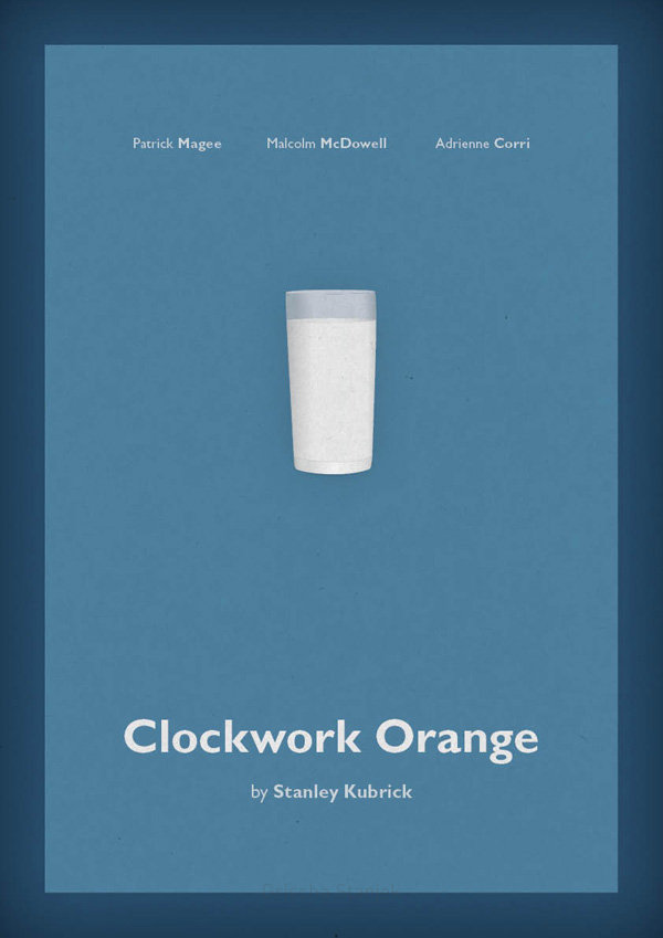 minimal movie poster clockwork orange