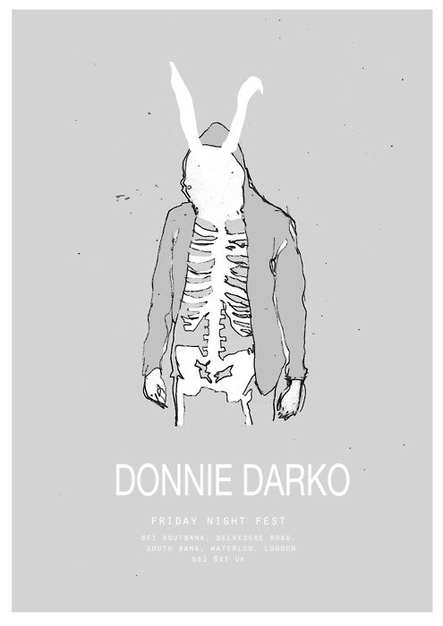 minimal movie poster  donnie darko