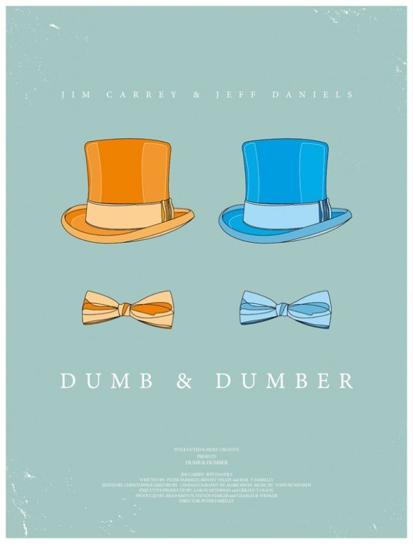 minimal movie poster c dumb & dumber