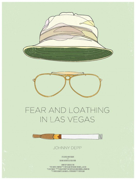 minimal movie poster  fear and loathing in las vegas