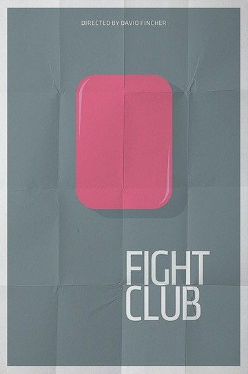 minimal movie poster  fight club