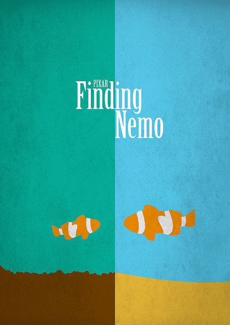 minimal movie poster  finding nemo