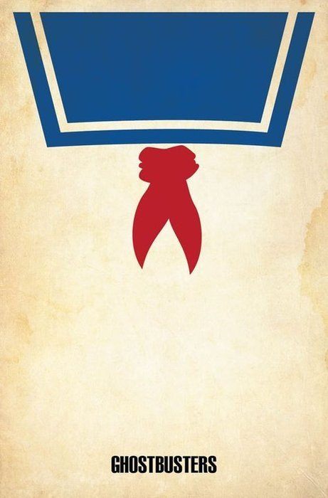 minimal movie poster  ghostbusters