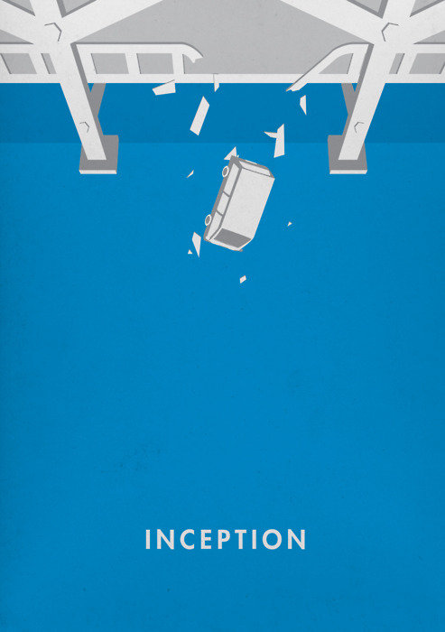 minimal movie poster  inception