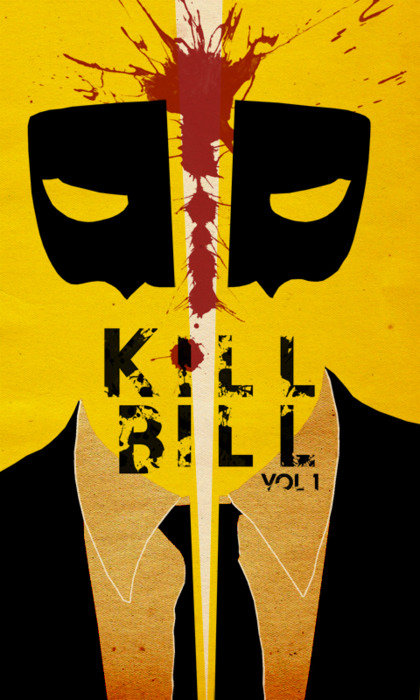 minimal movie poster  kill bill