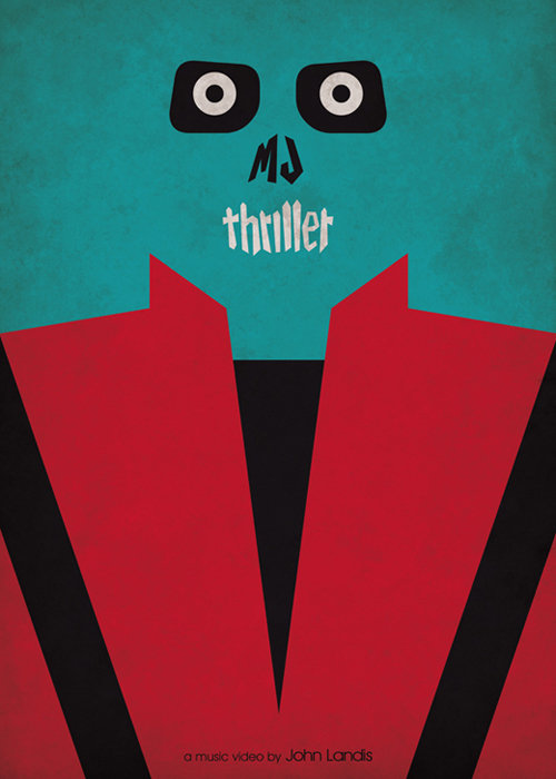 minimal movie poster  michael jackson thriller