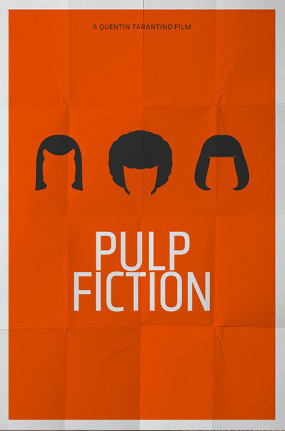 minimal movie poster pulp fiction