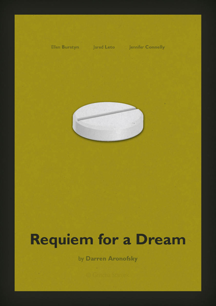 minimal movie poster  requiem for a dream
