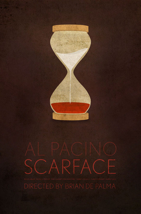 minimal movie poster scarface