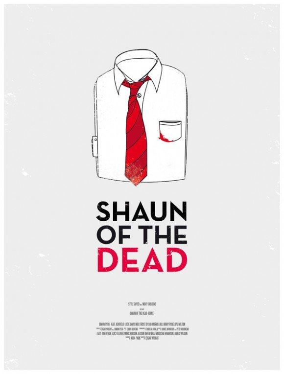 minimal movie poster co shaun of the dead