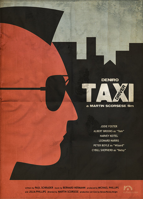 minimal movie poster  taxi driver