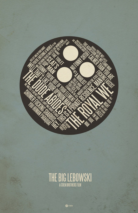 minimal movie poster  the big lebowski