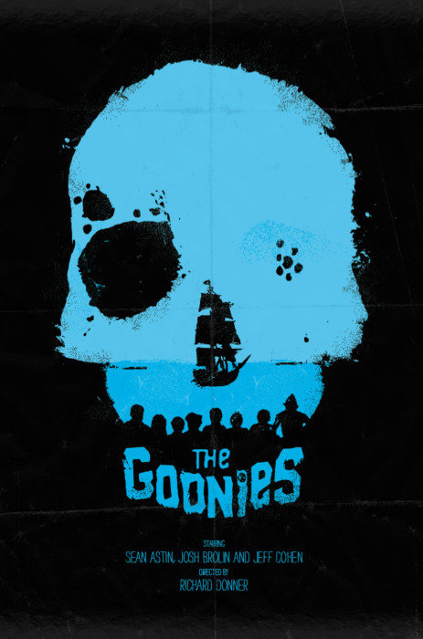 minimal movie poster  the goonies