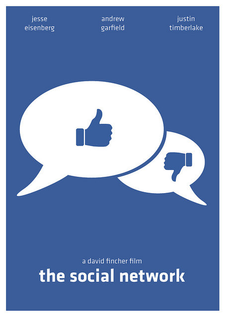 minimal movie poster  the social network