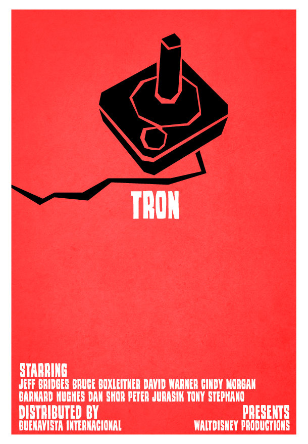 minimal movie poster c tron