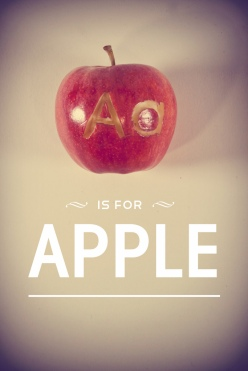 alphabet letters chicquero a apple