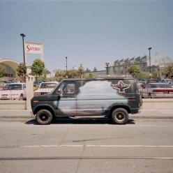 Vans cars chicquero black econoline blue mural