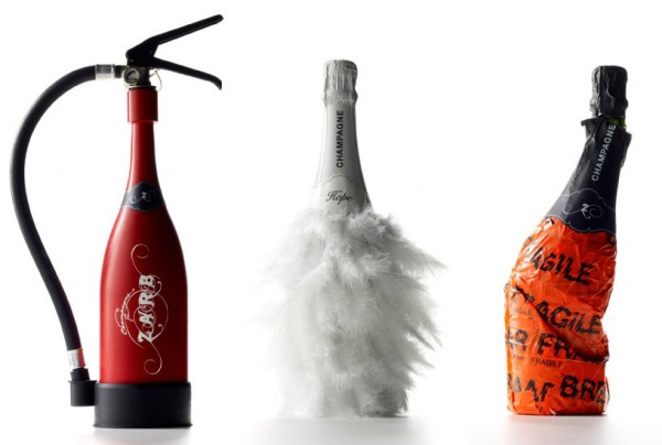champagne bottle design when.. Champagne meets art!