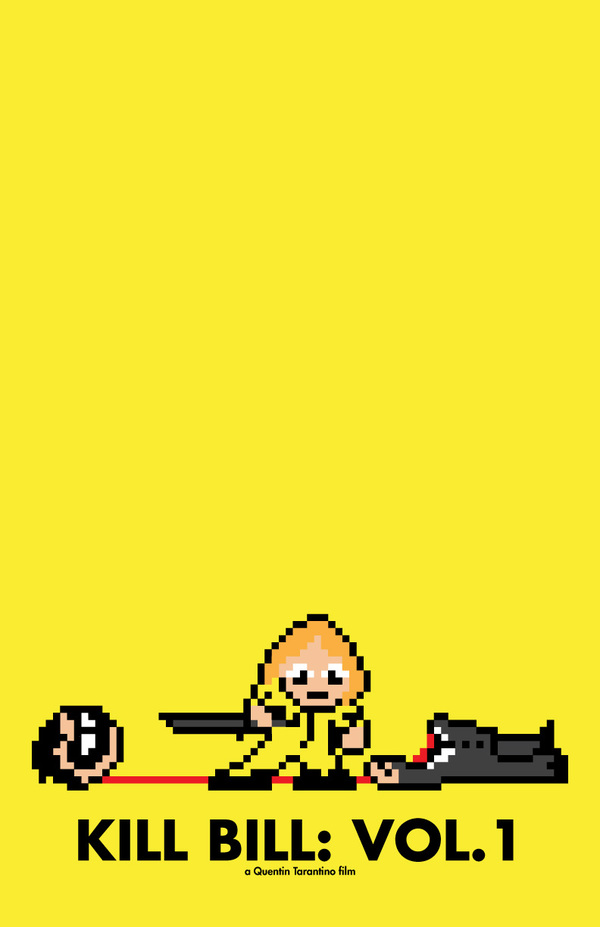 8 bit movie poster  kill bill vol 1