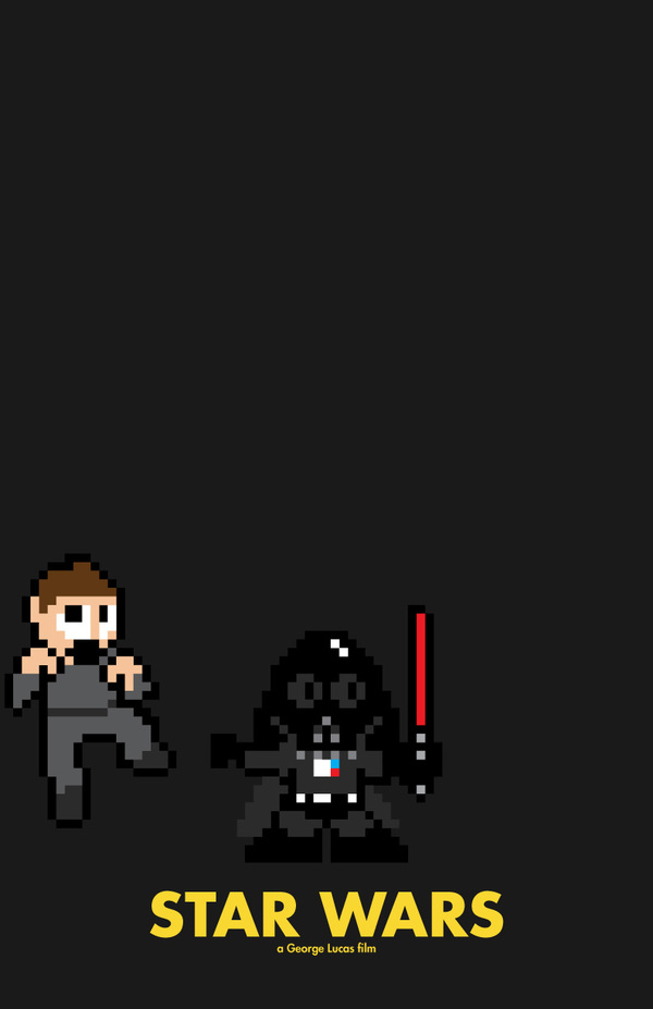 8 bit movie poster  star wars