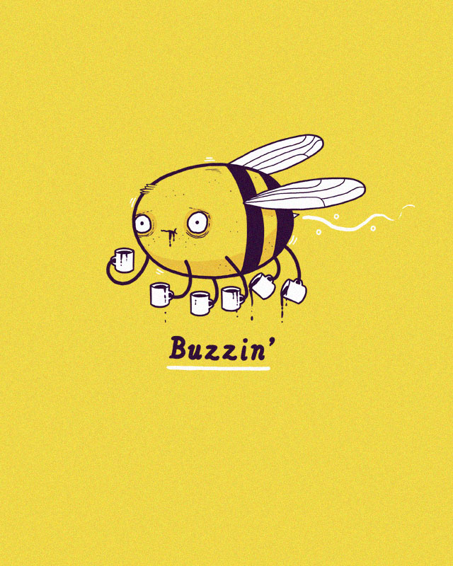 cool funny graphic design buzzin bee