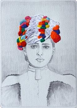 fashion watercolour pencil pens needles embroidery chicquero