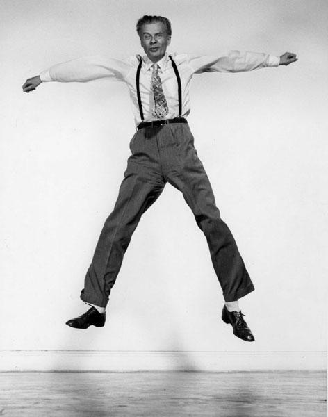 Jump 1959 by Philippe Halsman Aldous-Huxley