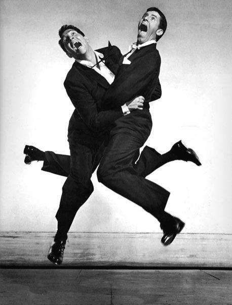 Jump 1959 by Philippe Halsman Dean-Martin-Jerry-Lewis