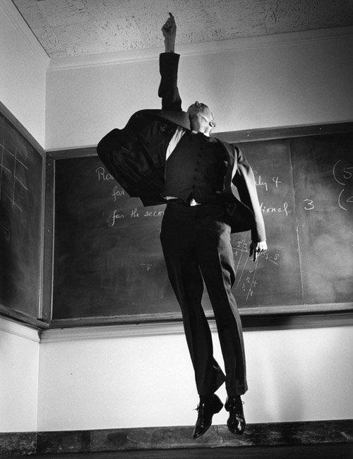 Jump 1959 by Philippe Halsman Professor-J.-Robert-Oppenheimer