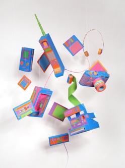 paper art crafts neon chicquero