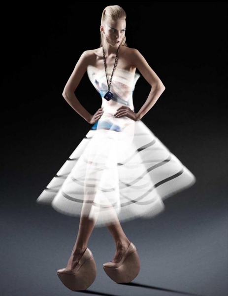 Light Painted Dress fashion Atton Conrad