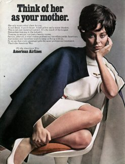 vintage ad advertsing sexism chicquero american airlines