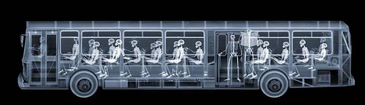 X-Ray photography Nick Veasey bus