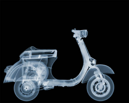 X-Ray photography Nick Veasey motorcycle